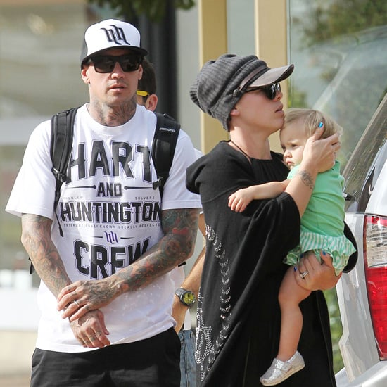 Pink Pictures in Sydney Northern Beaches With Carey Hart and Willow