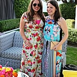 A romantic Yumi Kim floral maxi was contrasted quite nicely with a sporty-chic dress from Clover Canyon.