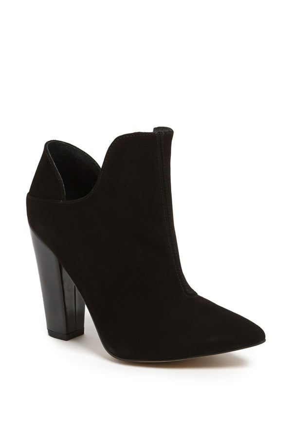 Topshop black pointy-toe Again ankle boots ($155)