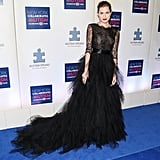 Allison's lacy black tiered gown was absolutely stunning at the 2013 Winter Ball for Autism. Obviously, this is how Allison knew she could work an OdlR train like a pro.