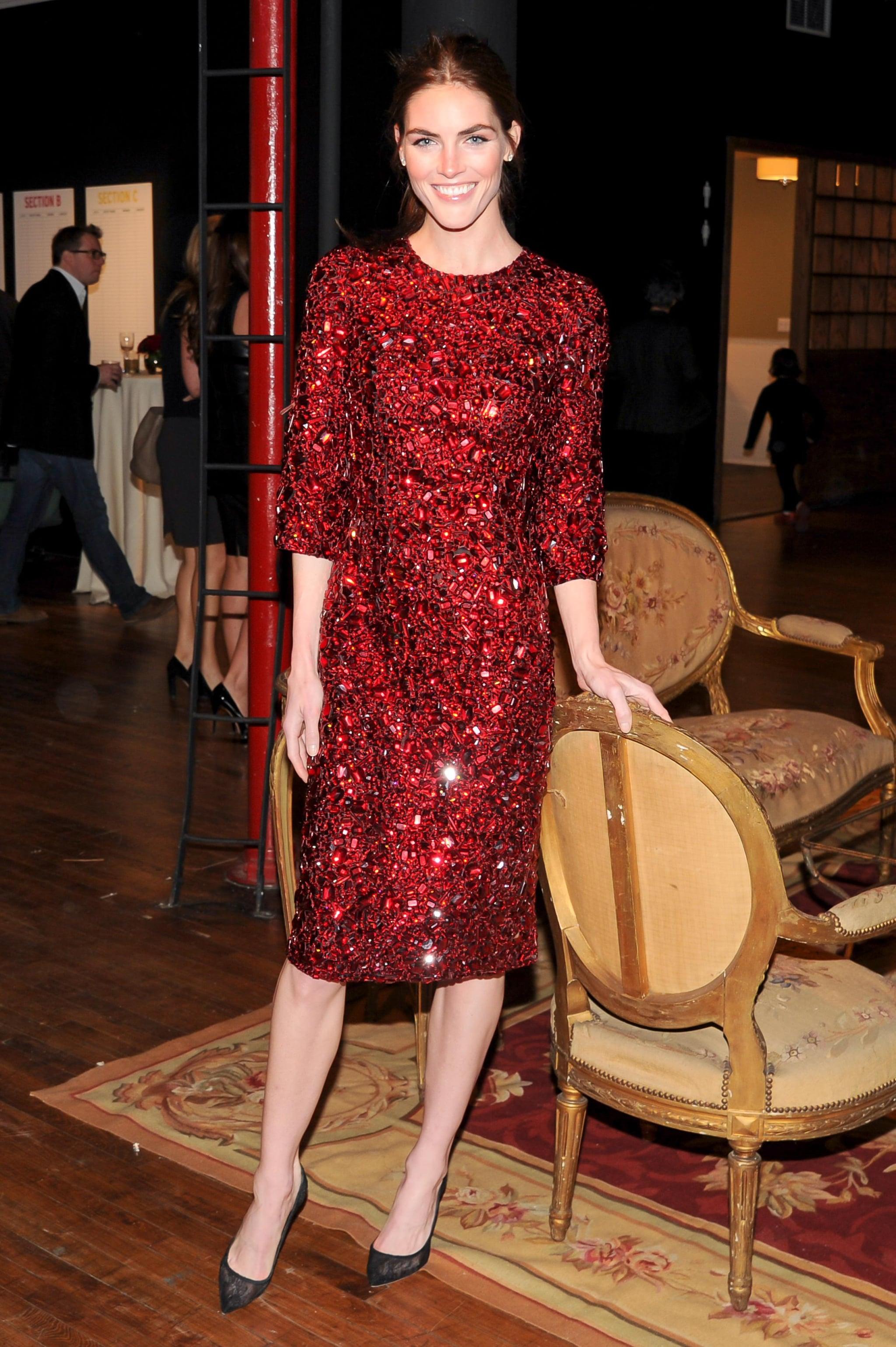 Hilary Rhoda sparkled at the Dolce & Gabbana Artwalk benefit.