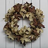 Crafted Autumn Leaves Wreath ($96)