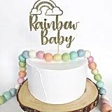 Rainbow Baby Cake Topper