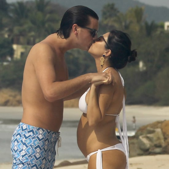 Pregnant Kourtney Kardashian Wearing Bikini Pictures