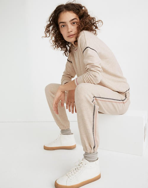 MWL Superbrushed Contrast-Stitched Easygoing Sweatpants