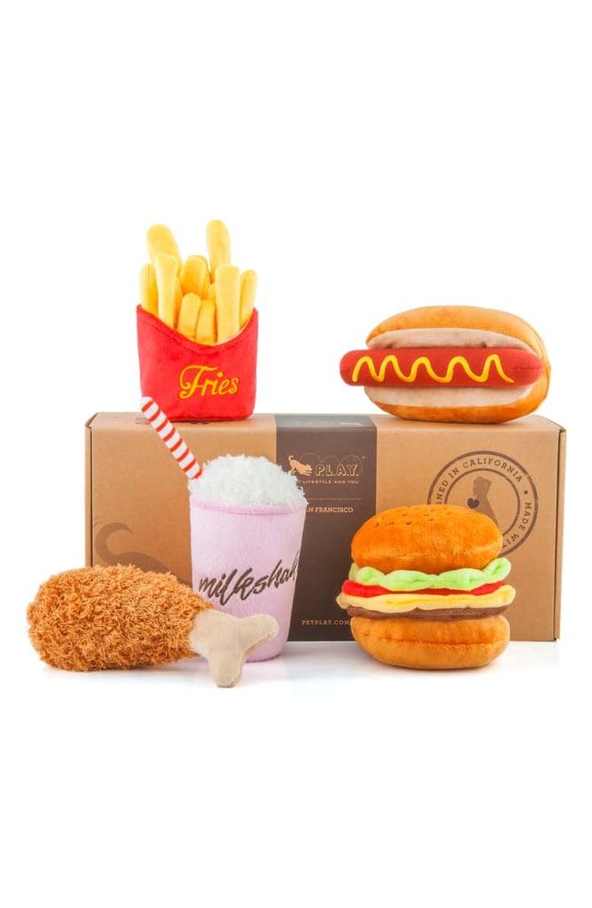 P.L.A.Y. 5-Piece Fast Food Plush Dog Toy Set