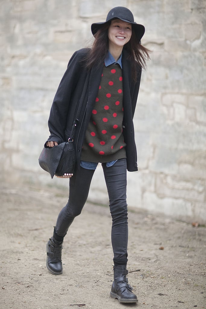 Polka dots give this dressed-down mix a sweet spin.