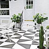 Painted Patio Tile