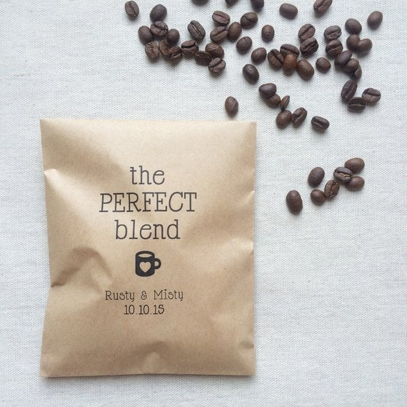 Perfect Blend Coffee Wedding Favor Bags Wedding Favors Under 5