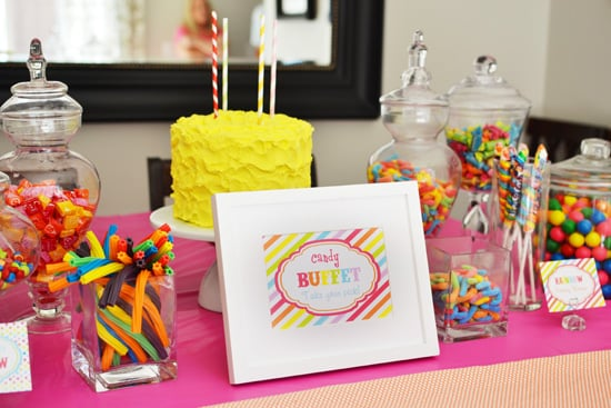 Rainbow Birthday Candy Buffet