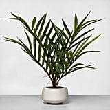 Artificial Potted Palm in Green/White