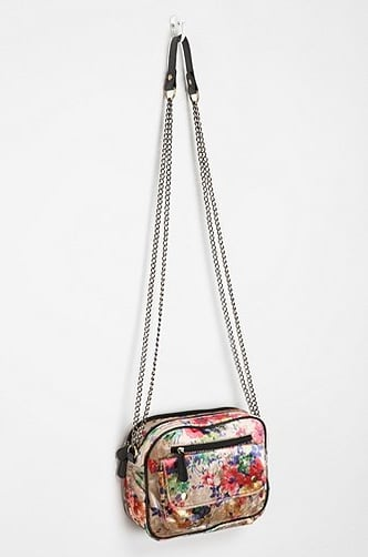 On the fence with velvet? Show off the trend in small pops, like with this colorful Kimchi & Blue Floral Velvet Crossbody Bag ($42).