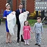 The royal twins were christened in Copenhagen in Apr. 2011.