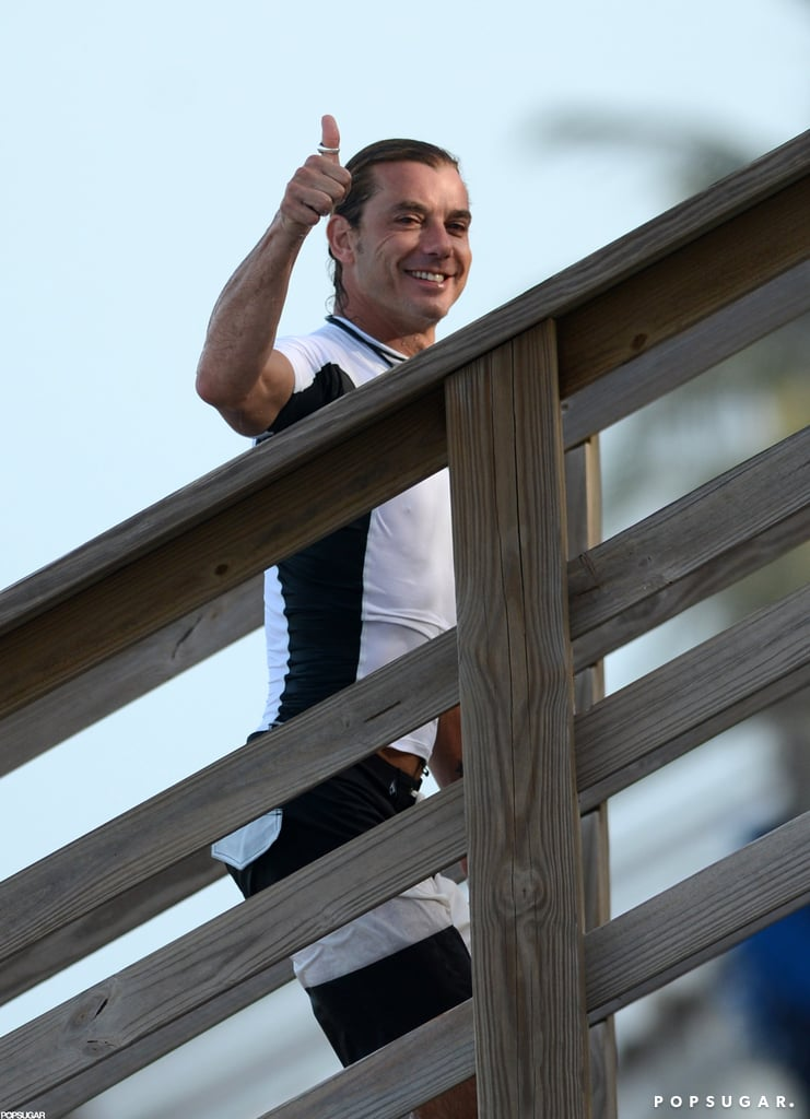 Gavin Rossdale gave a thumbs up.