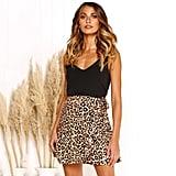 UKAP Falbala Leopard Print Wrap Skirt