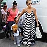 J Lo arrived in Miami today after playing a concert in Atlanta last night.