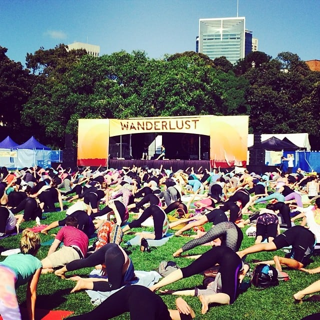 Hundreds of healthy Sydneysiders joined Steph in taking part in the first Wanderlust to hit our shores. Go behind the scenes here!