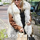 Kate Moss wore a fuzzy vest.