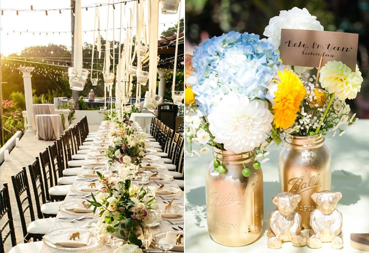 Table decorations for outside wedding reception home design ideas for outdoor wedding reception tables popsugar home junglespirit Gallery