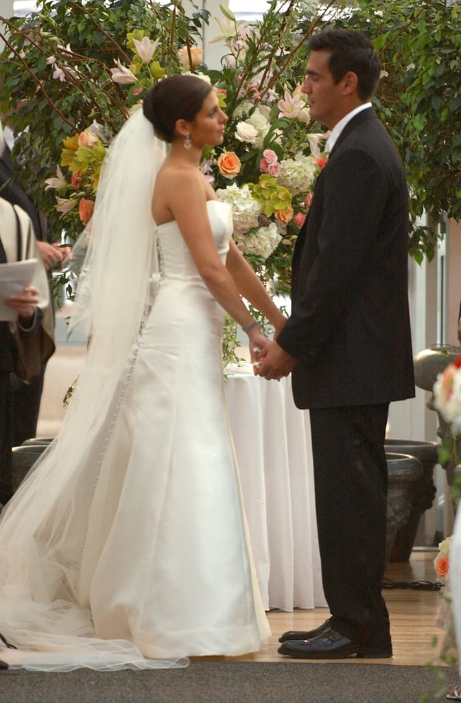 It was an NYC ceremony for Jamie-Lynn Sigler and A.J. DiScala in July 2003.
