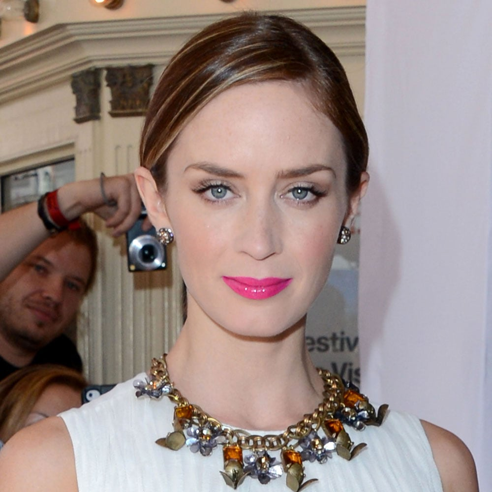 What else can you notice but Emily Blunt's amazing hot pink lip? We love the colour, and you can achieve the same look with Illamasqua SS12 Human Fundamentalism Lipstick in Eurydice ($27.13).