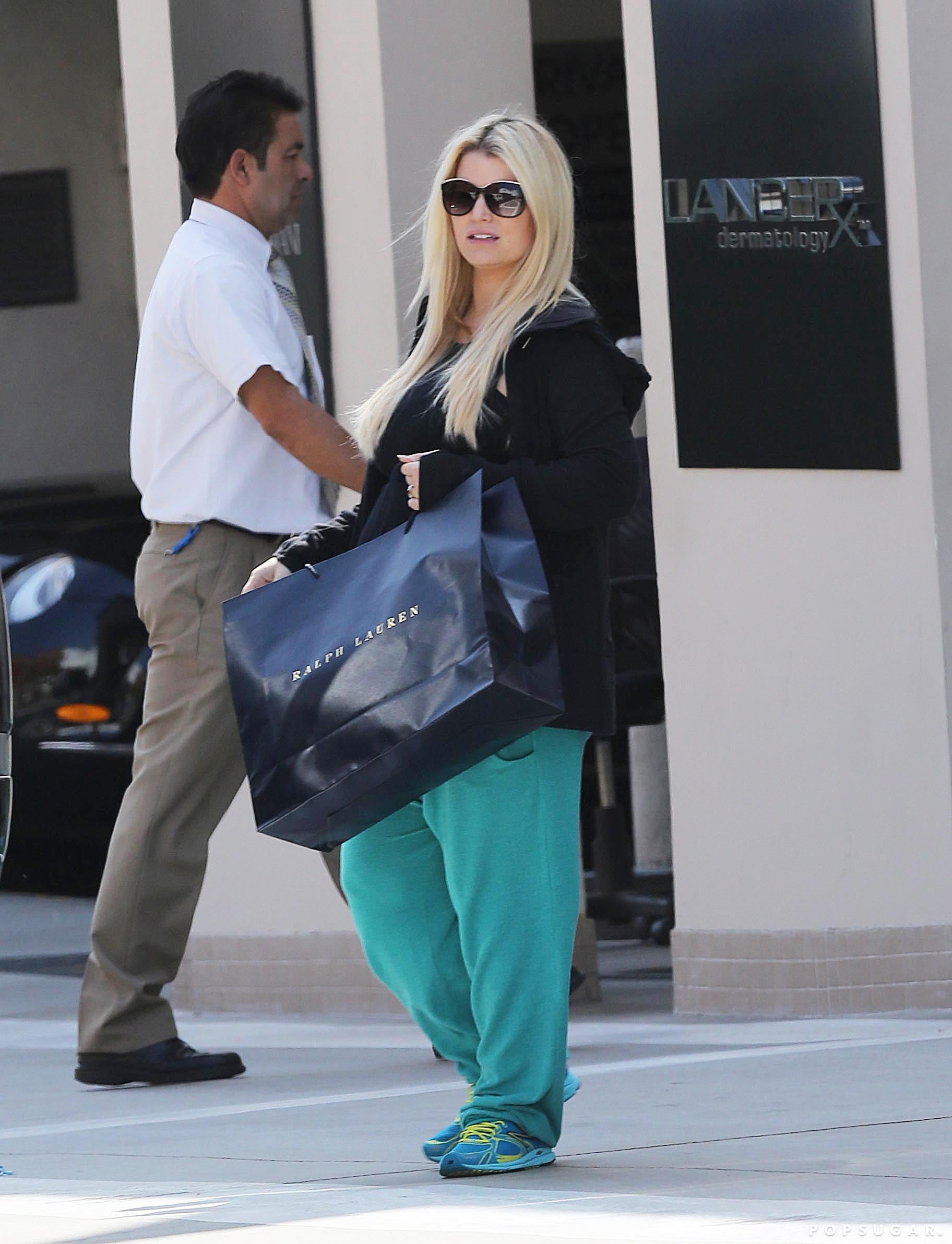 Jessica Simpson Chooses a Laid-Back Look to Shop Beverly Hills