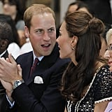 Prince William and Kate watch a dance performance at Inner City Arts in LA.