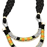 This handmade rope necklace would look awesome with a plain white tee and jeans. Holst + Lee Double Tiered Necklace ($415)
