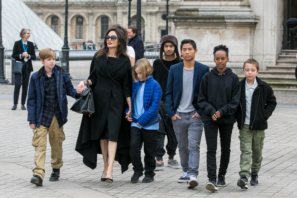 Angelina Jolie and Her Kids Get Cultured During a Family Museum Day in Paris