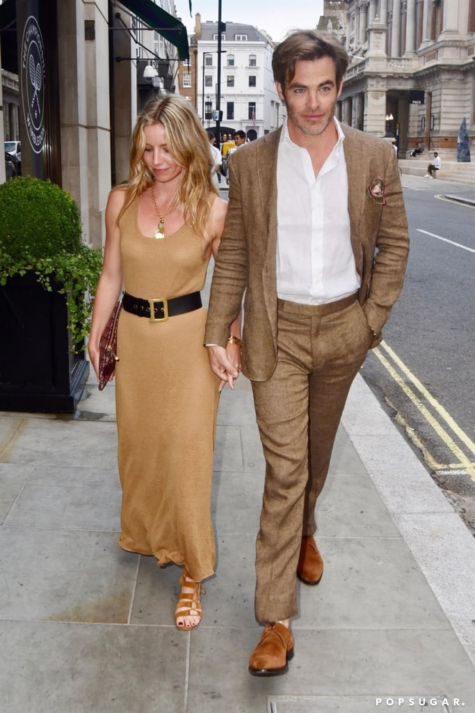 "Chris Pine and Annabelle Wallis are still going strong! The couple — who first sparked dating rumors back in March — were spotted holding hands during a romantic stroll around London on the Fourth of July. The pair coordinated their outfits in neutral shades, and according to nearby onlookers, they were ""in a very good mood and were very polite."" Chris and Annabelle were first linked in late March after they were spotted arriving together at Heathrow airport in London. However, it wasn't until a few weeks later that they seemingly confirmed their romance when they attended a dinner party in Malibu, CA, together. Welp, at least he looks happy, right?      Related:                                                                                                           12 Lucky Ladies Who've Been Romanced by Chris Pine"