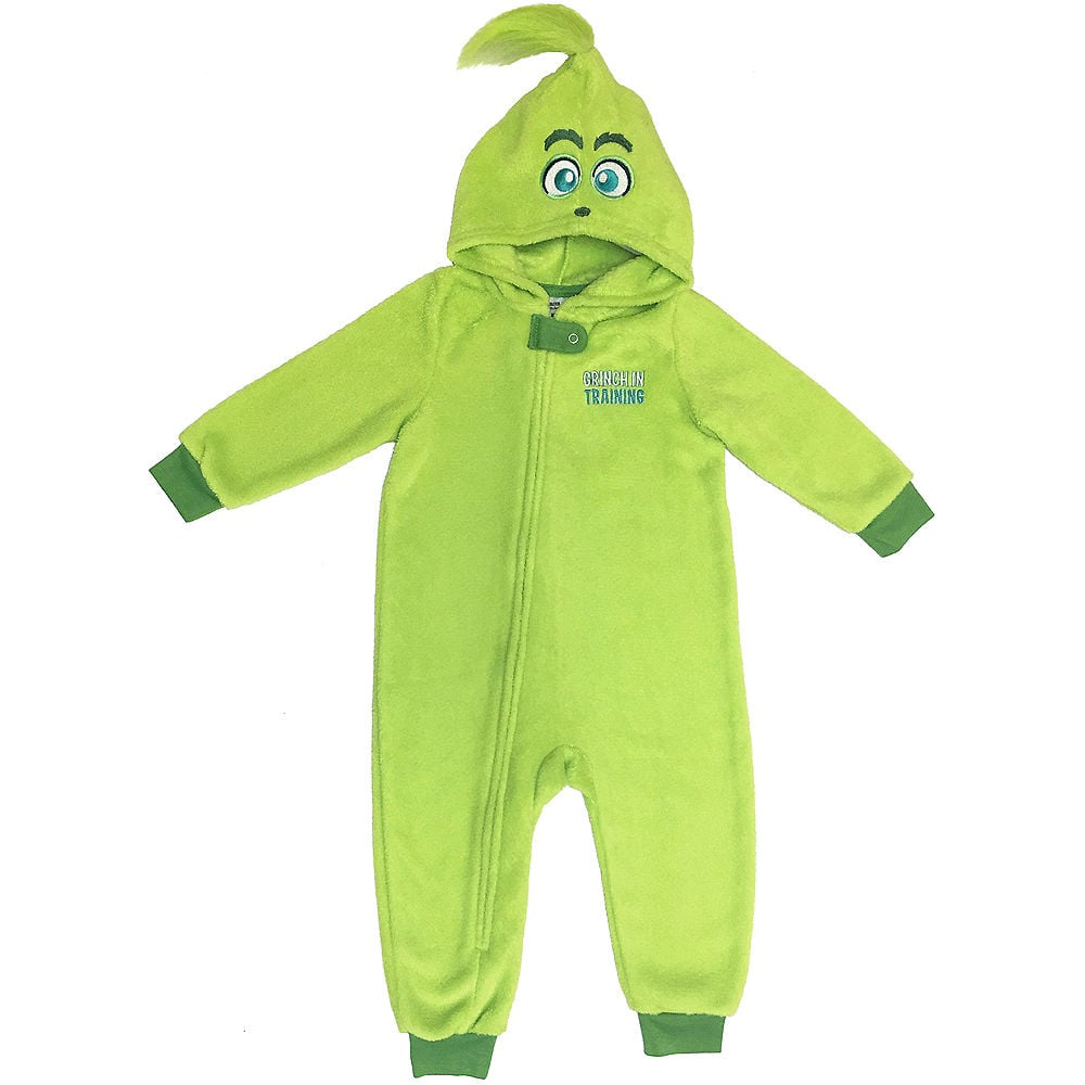 Baby Grinch in Training One Piece Pajamas