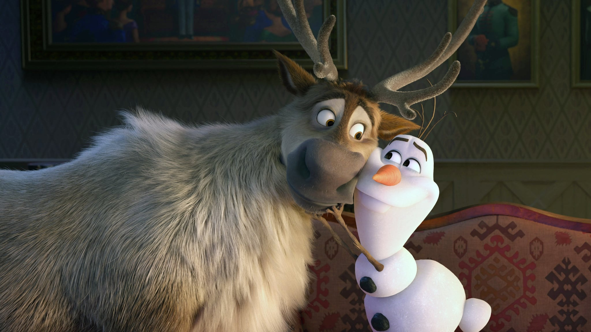 FROZEN II, (aka FROZEN 2), from left: Sven, Olaf (voice: Josh Gad), 2019.  Walt Disney Studios Motion Pictures / courtesy Everett Collection