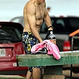 Ben Stiller was shirtless in Hawaii.