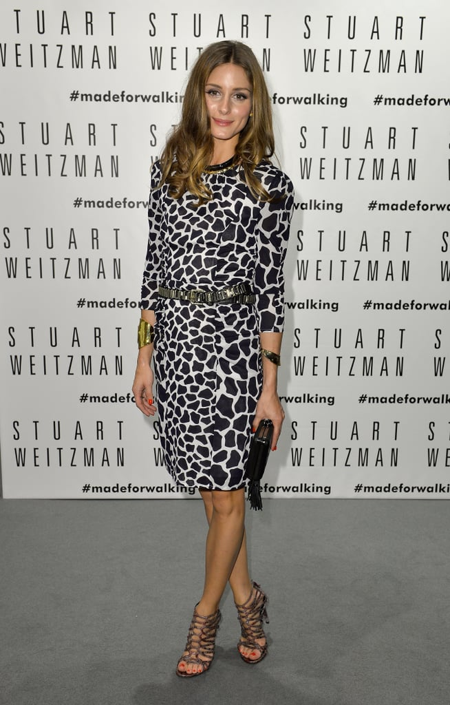 Olivia palermo dressed up in a black and white animal for Black and white celebrity prints