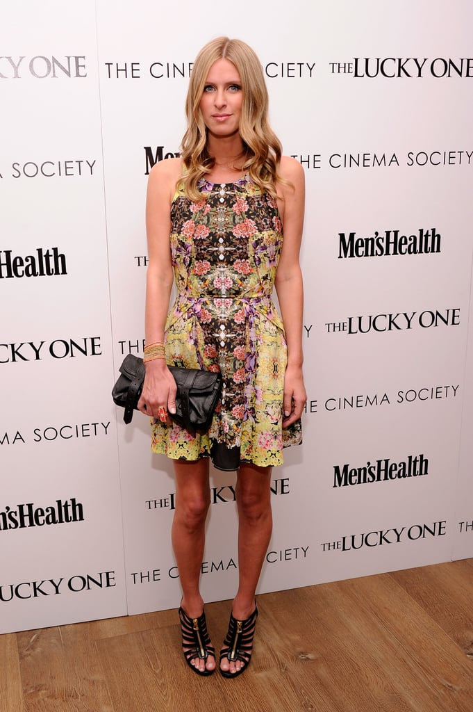 Nicky Hilton wore Topshop to the Cinema Society and Men's Health screening of The Lucky One in NYC.