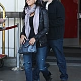Matt Damon and Luciana Damon touched down on the West Coast.