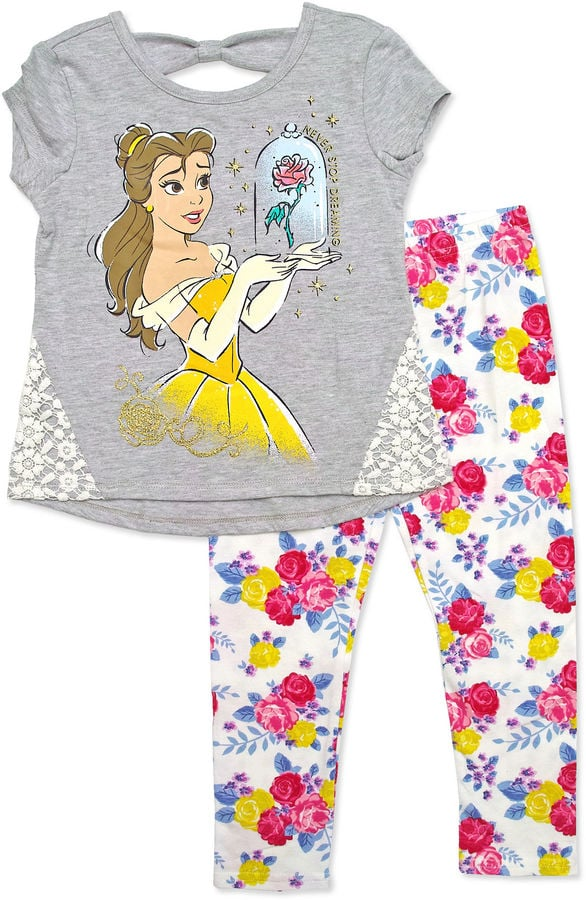 Disney By Okie Dokie Beauty and the Beast Legging Set-Toddler Girls ($20, originally $36)