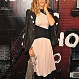 SJP mixes her colorblock Chanel Resort '11 dress with a sequined blazer.