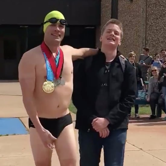Dad Picks Up His Teen From School in a Speedo