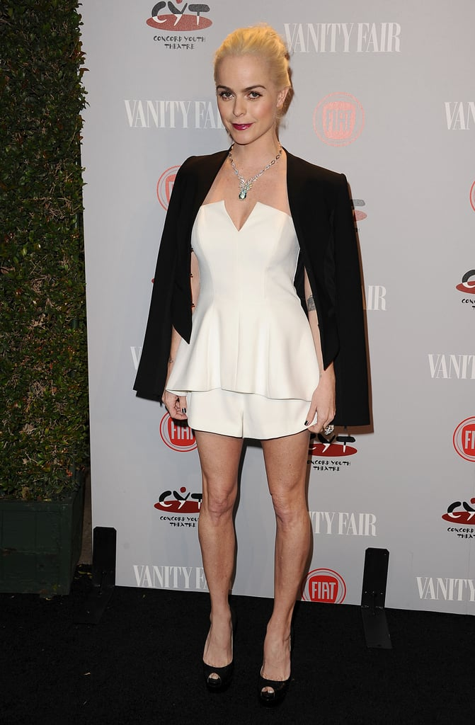 Taryn Manning traded orange for black and white.