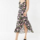 Urban Outfitters Flamenco Ruffle Tie-Back Slip Dress