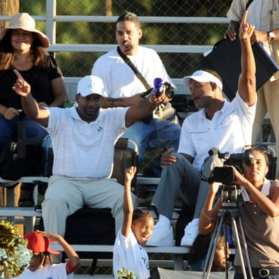 Will Smith and Alfonso Ribeiro Cheer on Will's Son Trey