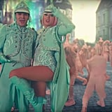 Taylor's Mint Green Ringmaster Outfit With Matching Knee-High Boots