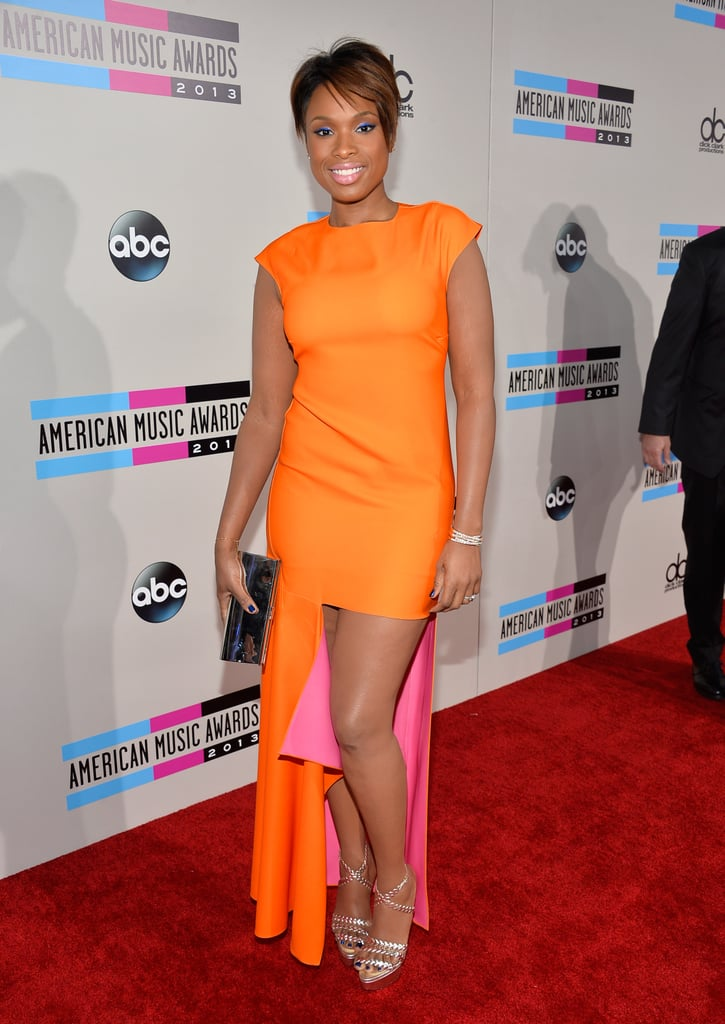 Pink and orange never looked so good, thanks to Jennifer Hudson in Dior. Her electric-blue eye shadow and Swarovski clutch weren't anything shy of perfection.