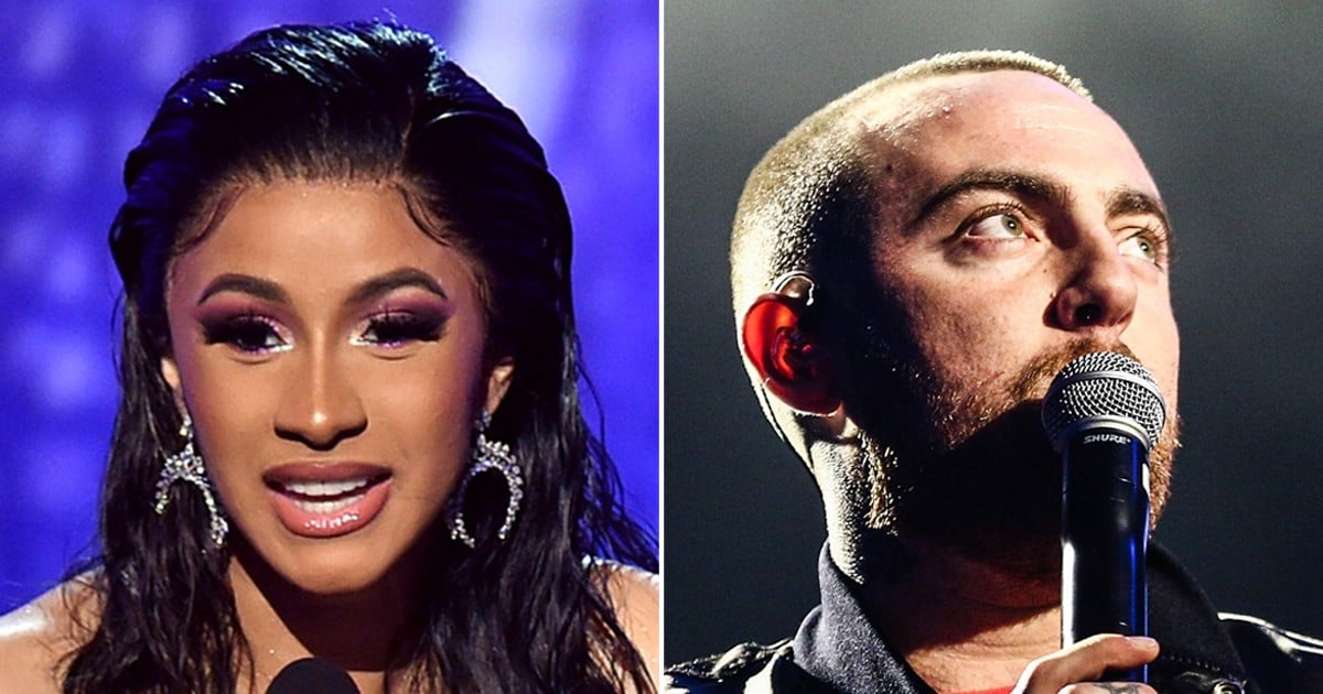 Cardi B Dedicates Her First Grammy to Mac Miller Following Ariana Grande's Angry Tweets
