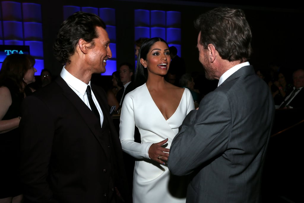 Bryan chatted with Matthew and his wife, Camila Alves.
