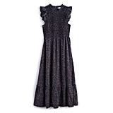 Ruffle Smocked Midi Dress in Sprinkle Dots ($48, originally $64)