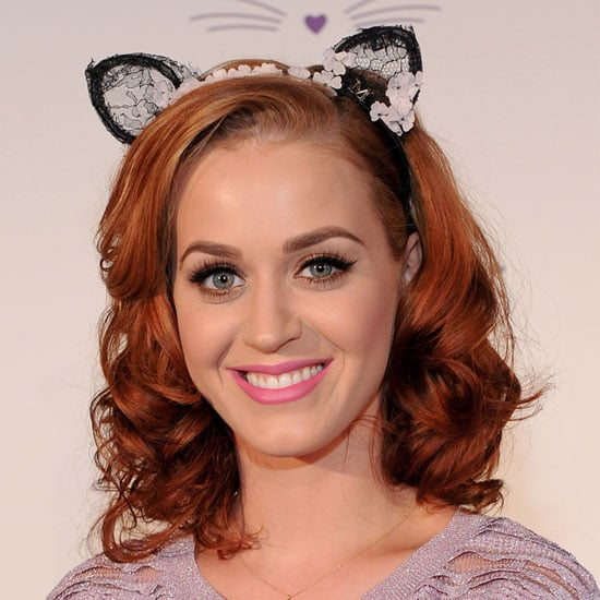 Katy Perry Debuts New Red Hair Colour Complete with Kitten Ears!