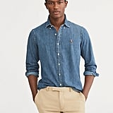 Ralph Lauren x Friends  Men's Denim Button Up Sport Shirt