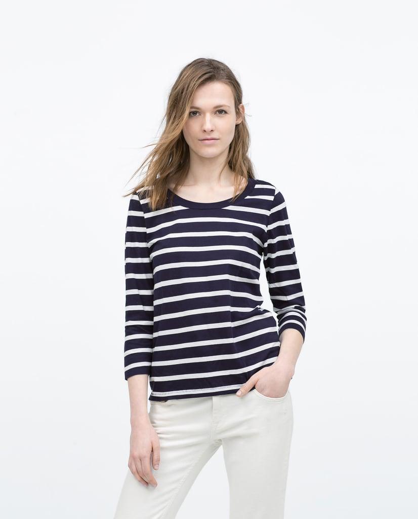 Zara 3/4 Sleeve T-Shirt ($16)